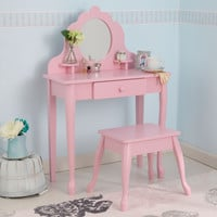 KidKraft Medium Diva Table & Stool- Pink - 13023