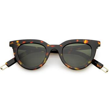 Modern Metal Arm Tip Polarized Lens Horn Rimmed Sunglasses C925