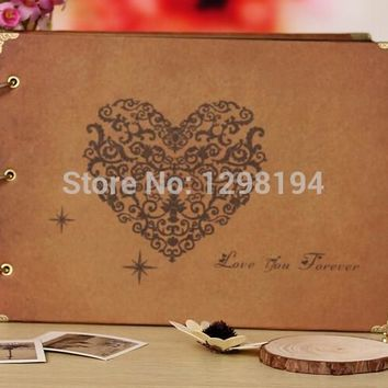 free shipping 10 inch DIY ALBUM Scrapbook Paper Crafts for memory picture photograph holder wedding gift