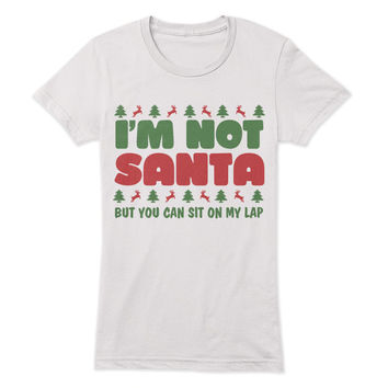 I'm not Santa, but you can sit on my lap