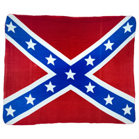 Rebel Flag Logo Blanket
