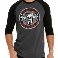 Avenged Sevenfold Death Bat Badge Raglan