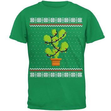 Cactus Prickly Pear Tree Ugly Christmas Sweater Mens T Shirt