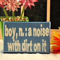 Boy, a  Definition  -  Expressive Art on Canvas wall decor for Dorm, Bedroom, Children's, Playroom, Boy, Brother, Bathroom