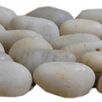 Cloudy White Standing Pebble Tile