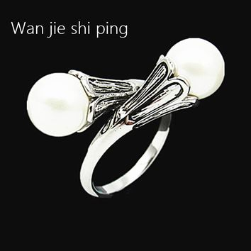 Game of Thrones rings for women Daenerys Targaryen simulated pearl vintage female ring Lovely Christmas gift