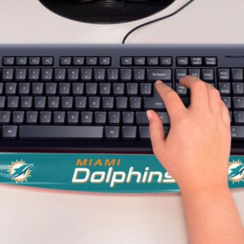 Miami Dolphins Computer Keyboard Gel Pad Wrist Rest Support FANMATS