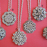 20 necklace choices,Bridesmaids Jewelry,Crystal, Pearl, silver Bridal Party Gifts and Bridesmaids Jewelry