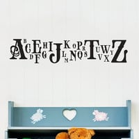 Classic Caps Alphabet Wall Decal Children's by WallumsWallDecals