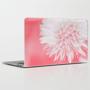 "Pink Dandelion- Laptop Skins for MacBook Air/ Pro/ Retina 11"" 13"" 15"" 17"" and PC Laptops 13""15""17"" - Modern Gift -  Floral Laptop Accessorys"
