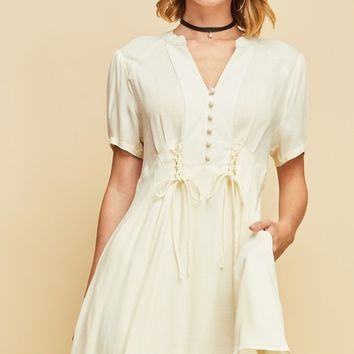 Entro Lace Up Corset Dress
