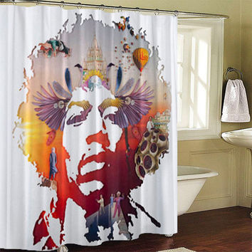 Jimi Hendrix Shower Curtains
