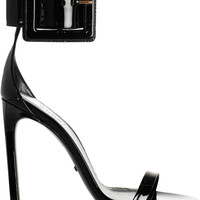 Gucci | Buckled patent-leather sandals | NET-A-PORTER.COM