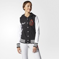 adidas neo women sports casual multicolor letter long sleeve hooded sportswear baseball clothing jacket coat