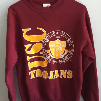 vintage USC university of souther california crewneck sweater / medium
