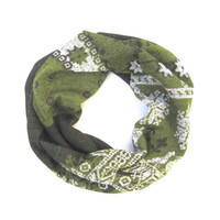 Toddler Scarf Children's Scarf Infinity Scarf Unisex Child Scarf Kid Scarf Green Brown White Gift Idea Ready to Ship
