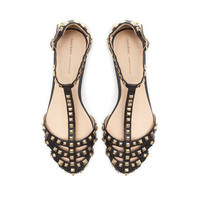 STUDDED SANDAL - Flats - Shoes - Woman | ZARA United States