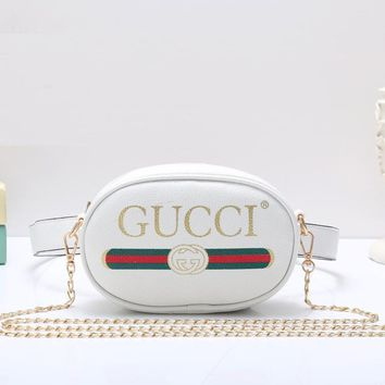 Gucci Women Fashion Leather Chain Waist Pack Satchel Shoulder Bag Crossbody-19