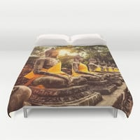 Buddhist Nirvana Duvet Cover by Maioriz Home