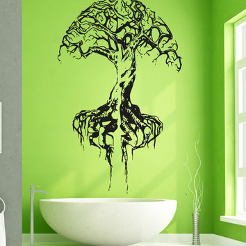 Vinyl Wall Decal Sticker Brain Tree #5121