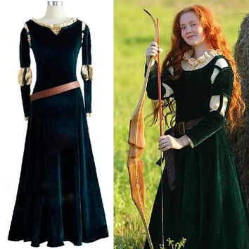 Princess Merida Cosplay Costume