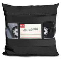 Vhs And Chill Pillow