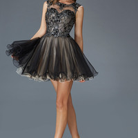 G2161 Open Back Homecoming Cocktail Dress