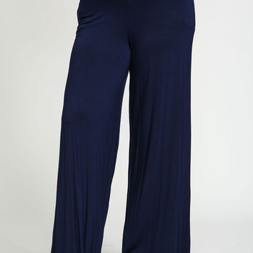 Plus Size Fold Over Wide Leg Pants
