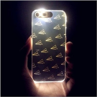 Flash LED Light Up Incoming Call Remind PC Case Cover for iPhone 6 6s Plus 5 5s