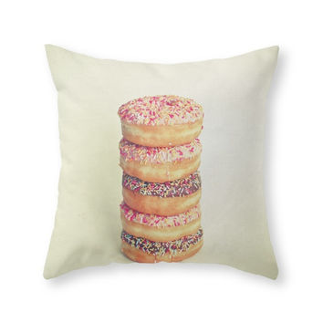 Society6 Stack Of Donuts Throw Pillow