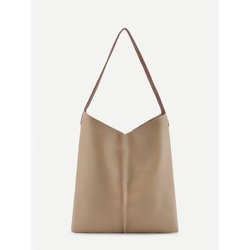 DCCK8JO Faux Leather Tote Bag