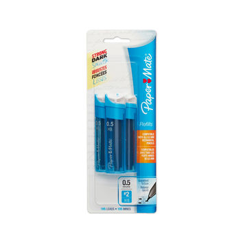 Paper Mate Mechanical Pencil Refills 0.5mm HB #2 105 Count Black 3-Pack