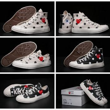 CDG Play Converse 1970s Chuck Taylor Shoes Men Women Running Low High Top Skateboard Casual Sneakers 354