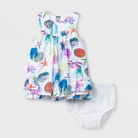 Baby Girls' A-Line Dress - Cat & Jack™ White