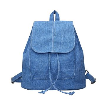 Soft Canvas Women Backpack Drawstring School Bags Female Backpacks For Teenage Girls Mochilas Escolares Para Adolescentes 2017