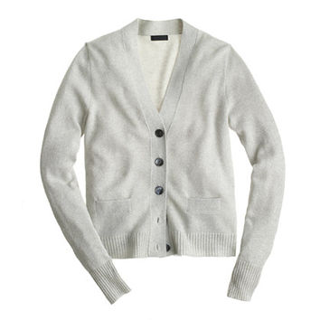 J.Crew Womens Collection Cashmere Sparkle V-Neck Cardigan Sweater