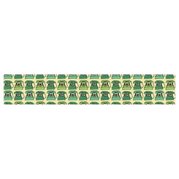 "Holly Helgeson ""Vintage Telephone"" Green Pattern Table Runner"