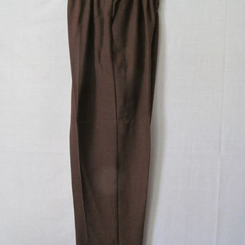 Ladies Brown Slacks sz L XL Womens Womens Brown Pants womens sz 16 p Dress Pants Womens Elastic Waist Pants Brown Dress Pants Casual womens