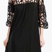 Looped Lattice Shift Dress - GoJane.com