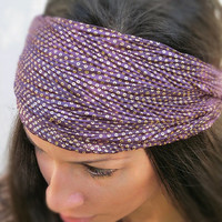 Purple and Gold Dot head wrap
