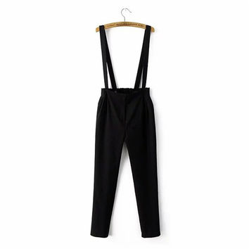 Korean Summer Women's Fashion Cropped Pants Romper [4918854404]