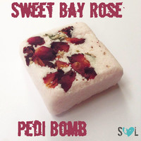 Sweet Bay Rose Pedi Bomb, Rose Bath Bomb, Valentine's Day Rose Bath Melt, Pedi Bomb with Rose Petals, Rose Foot Bath