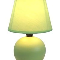 Simple Designs LT2008-GRN Ceramic Globe Table Lamp, Green:Amazon:Home Improvement