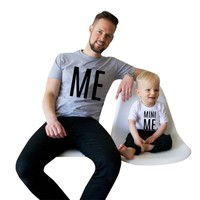 ME and MINI ME Print Father Son Matching Outfits
