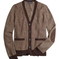 Saxxon™ Wool Glen Plaid Cardigan - Brooks Brothers