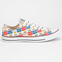 Converse Chuck Taylor All Star Warhol Low Shoes White/Red  In Sizes