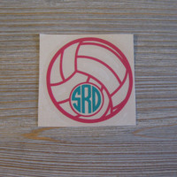 Volleyball Monogram Car Decal - Monogram Volleyball Car Decal - Monogram Car Decal - Monogram Decal - Car Decal - Volleyball Decal - Decal
