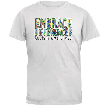 Autism Awareness Embrace Differences Mens T Shirt
