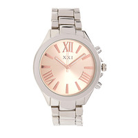 FOREVER 21 Classic Analog Watch Silver/Light Rose One