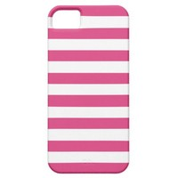 Cabaret Red Fuchsia And White Stripes iPhone 5 Cover